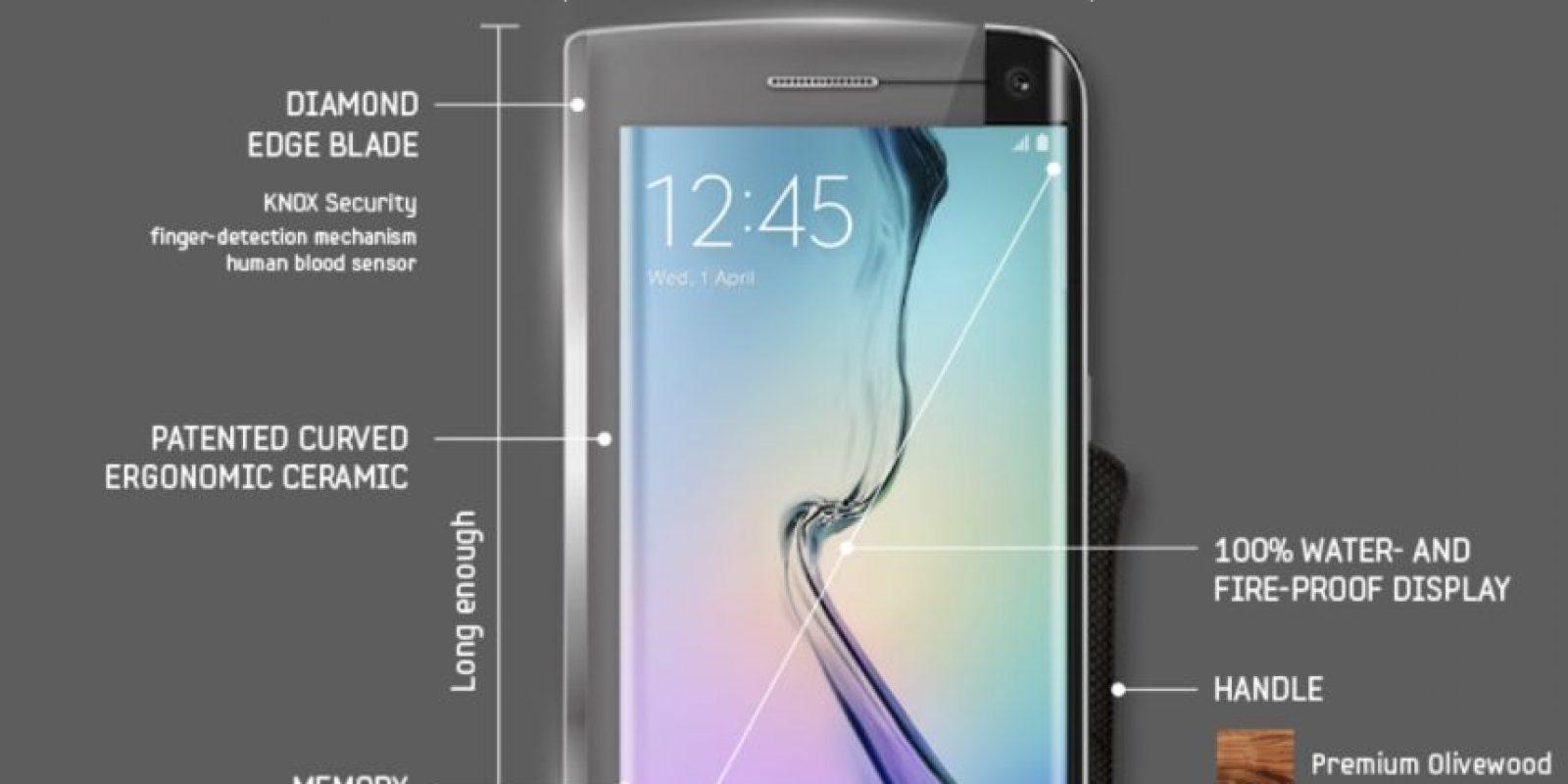 Los materiales con los que fue diseñado. Foto:Samsung