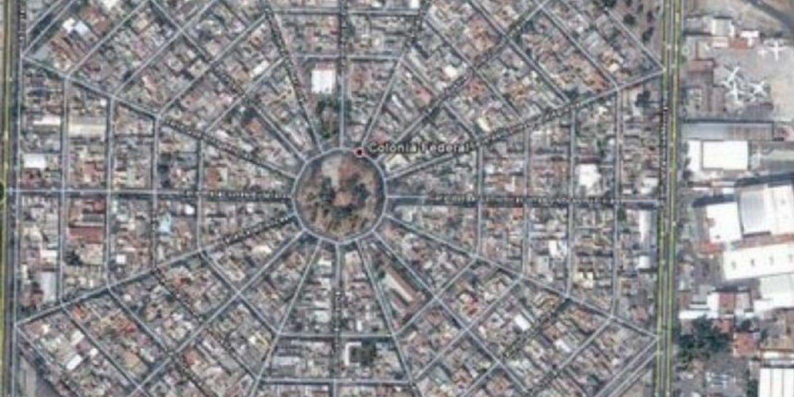 Colonia de México, DF. Una telaraña gigante. Foto:Google Maps