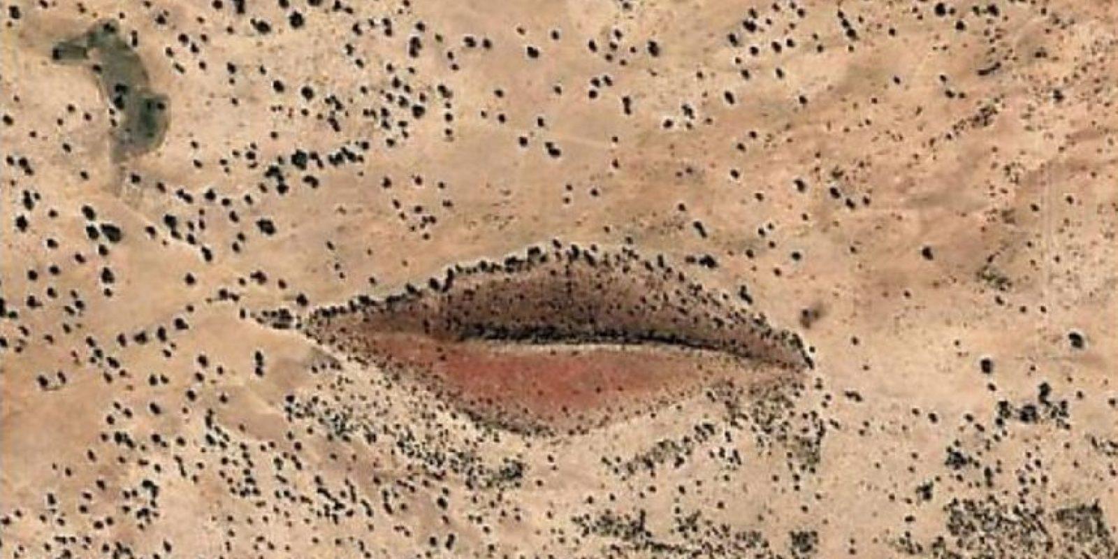 Unos labios en el desierto. Foto:Google Earth
