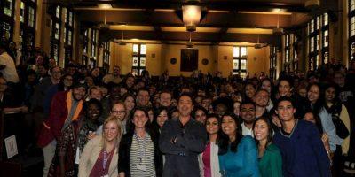 Aquí, con sus fans Foto:Facebook/Robert Downey Jr.