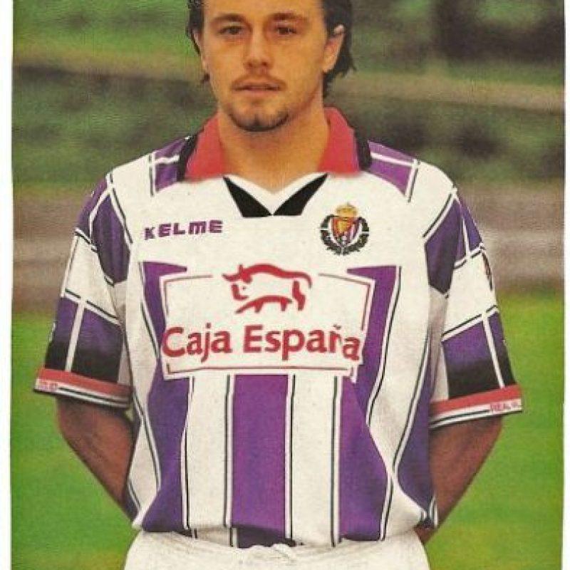 """1996 – Alen Peternac, del Real Valladolid consiguió su """"manita"""" en el 8-3 sobre Real Oviedo. Foto:Twitter @falso9web"""