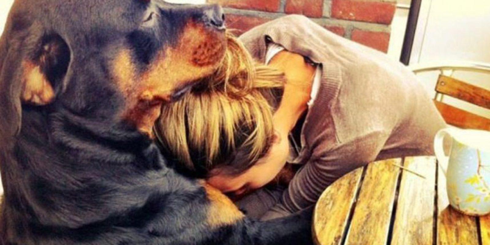 Ellos abrazan. Foto:Tumblr