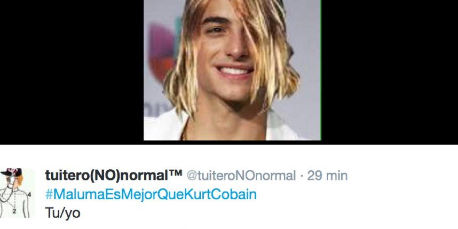 Algún ocurrente decidió afirmar que el reggaetonero es mejor que Cobain. Foto:Maluma/Facebook