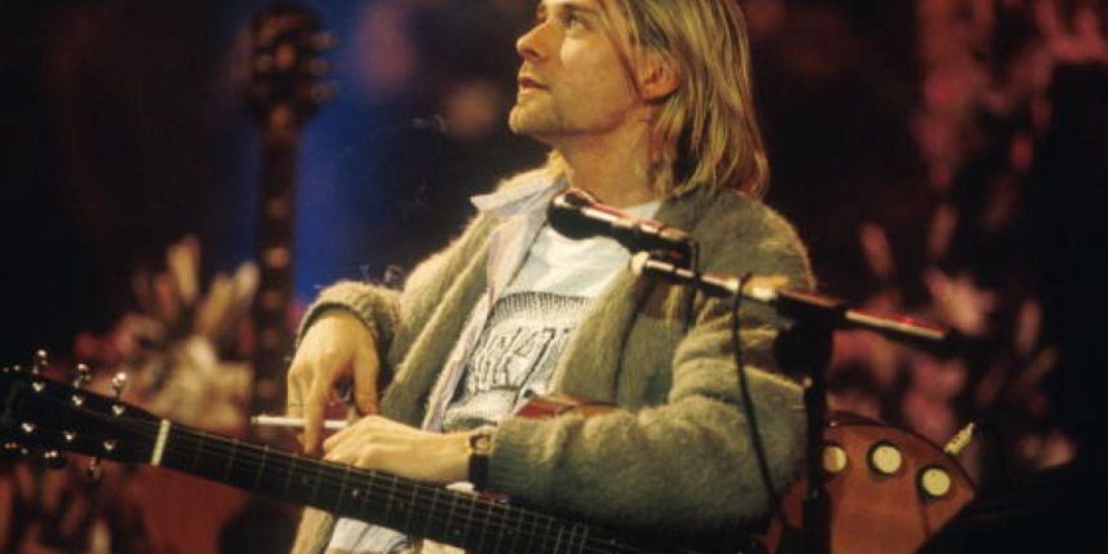 """Kurt Cobain, leyenda del rock y vocalista de """"Nirvana"""", murió el 5 de abril hace 21 años. Foto:Getty Images"""