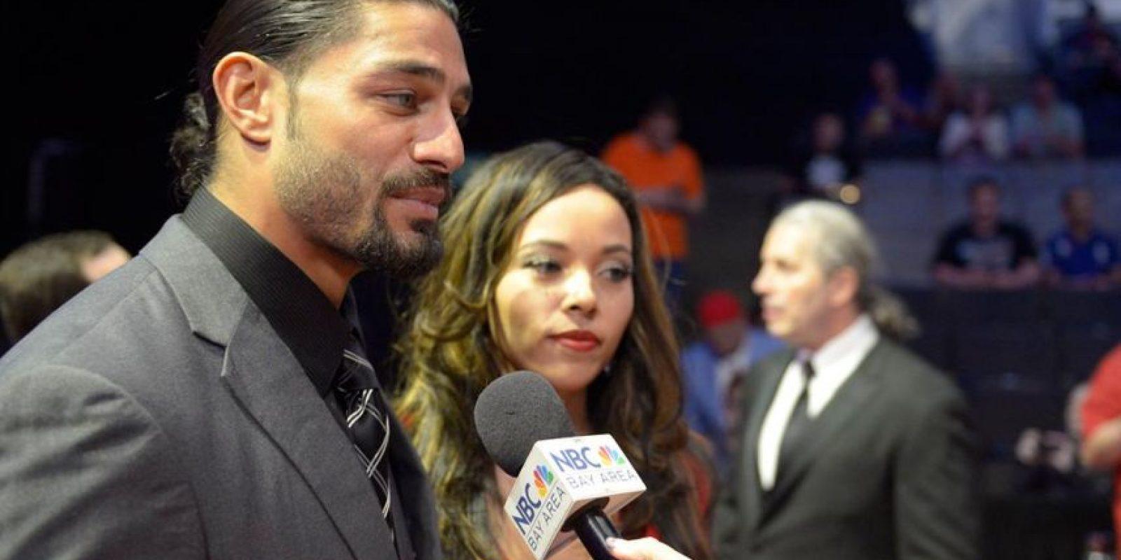 Roman Reigns al lado de su esposa, Galina Becker Foto:WWE