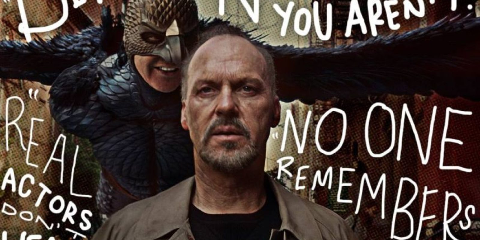 """Keaton interpretó a un decadente actor que saltó a la fama por interpretar al superhéroe """"Bordman"""" en décadas pasadas Foto:Vía facebook.com/BirdmanMovie"""