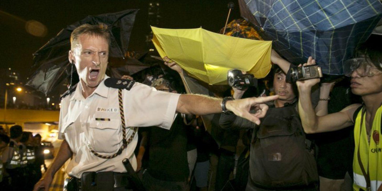 """4. El movimiento de defensores de la democracia se llamó """"Occupy Central with Love and Peace"""". Foto:Getty"""