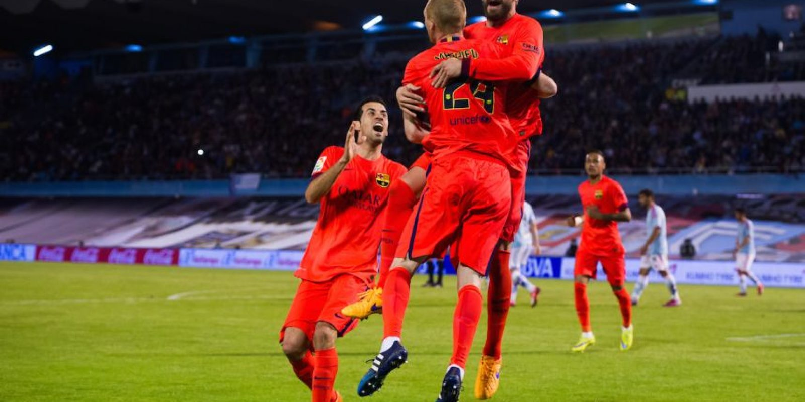 Al 73′, el francés Jeremy Mathieu apareció para darle la victoria al Barça con una anotación. Foto:Getty Images