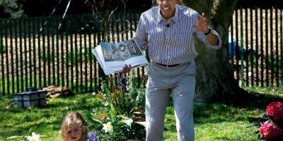 El presidente Obama se dio una vuelta por la zona de cuentos. Foto:Getty Images