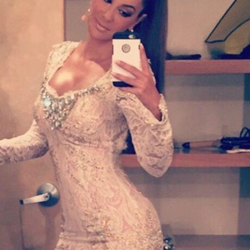 La también actriz lució un diminuto vestido color perla. Foto:Vía Instagram/ninelconde