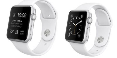 Y este es el Apple Watch Sport. Foto: Apple