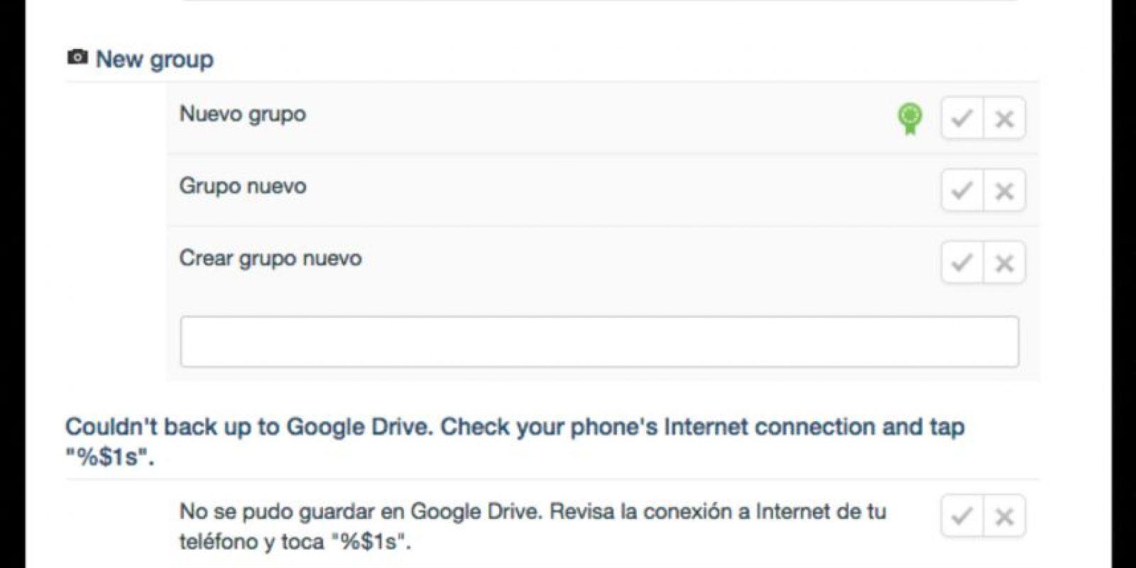 Otra noticia la dieron Google y WhatsApp. Guardar todos tus archivos en el Drive ya es posible. Este es el mensaje que lo confirma. Foto:WhatsApp Traslation