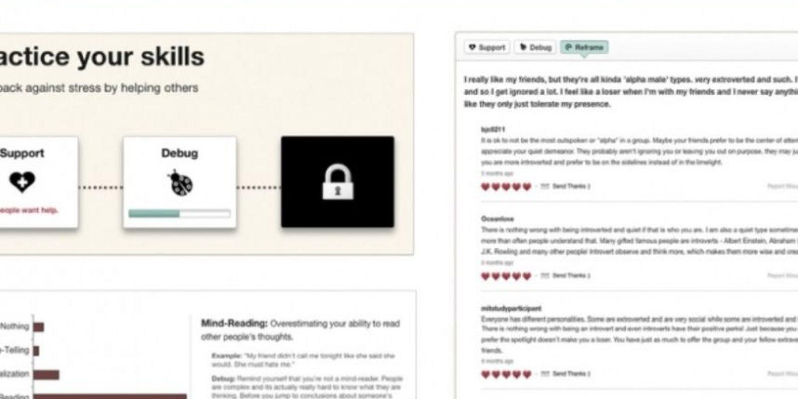 3. ¿Cómo funciona esta plataforma de crowdsourcing para la depresión? Foto:Panoply