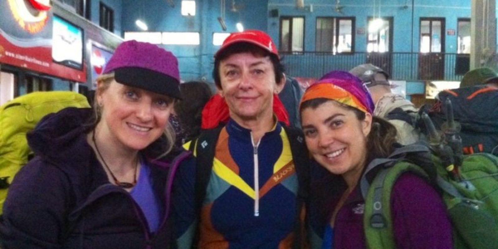 Bárbara Padilla ha compartido con diferentes personas, en sus primeros días de expedición. Foto:Facebook