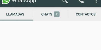 Tres columnas en la pantalla principal donde encontrarán Contactos, Chats y Llamadas. Foto:Tumblr