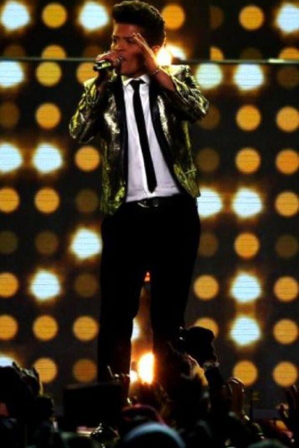Bruno Mars ganó el año pasado 60 millones de dólares. Foto:Getty Images