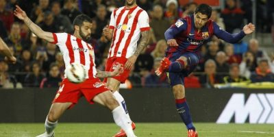 El cuadro azulgrana recuperó la confianza con un triunfo que lo acerca al título de la Liga española. Foto:AFP