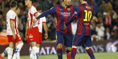 El Barcelona recupera el paso con una goleada contra el Almería