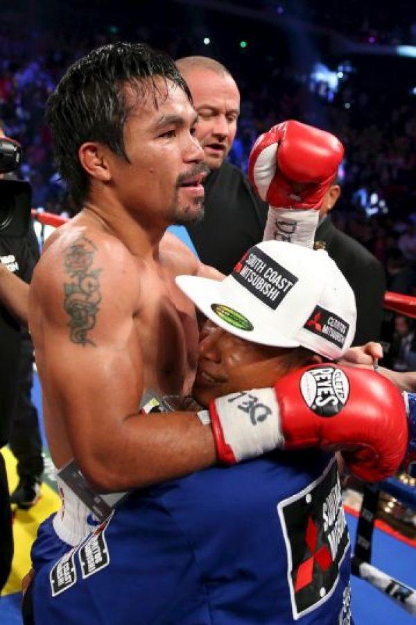 """La bolsa garantizada es de 150 millones de dólares para """"Money"""" y 100 para Pacquiao, aunque podría subir a 120 dependiendo del éxito del combate. Foto:Getty Images"""