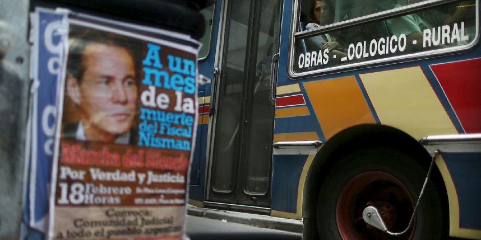 Así se notaba el apoyo a Nisman un mes después de su muerte. Foto:GETTY