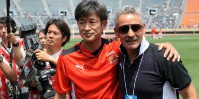 Y marcó el gol del triunfo de su equipo, el Yokohama FC Foto:Getty Images