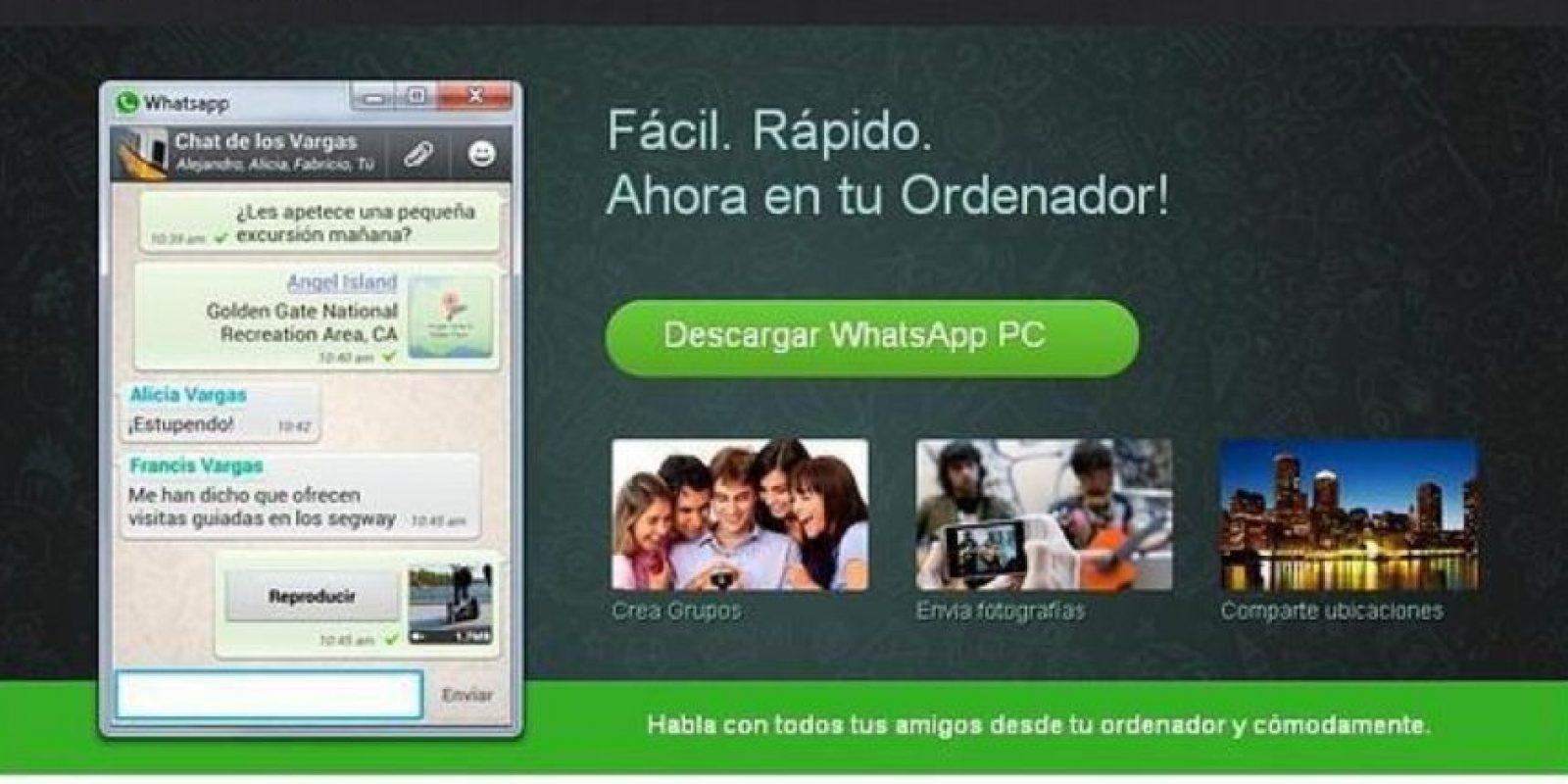 WhatsApp para PC Foto:Twitter