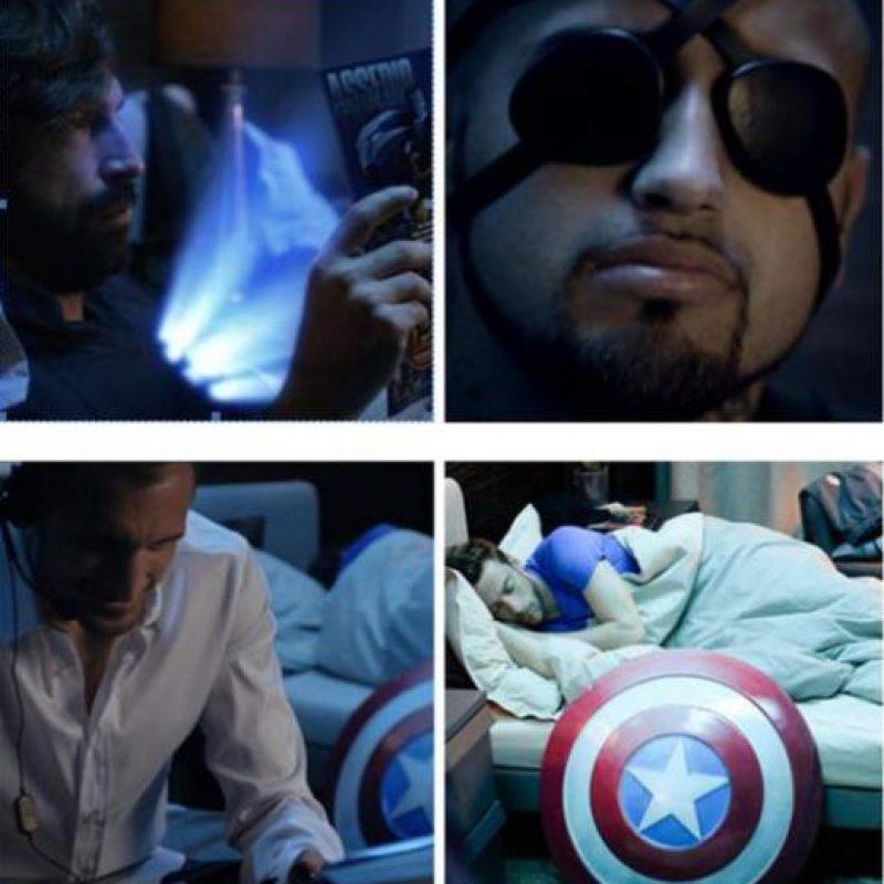 Pirlo, Vidal, Chiellini y Marchissio se tomaron en serio el papel de super héroes. Foto:Publinews