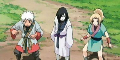 """En la historia original, los dos compiten por el amor de Tsunade. El chico bueno gana. Esto no pasa en """"Naruto"""", por supuesto. Foto:Tv Tokyo"""