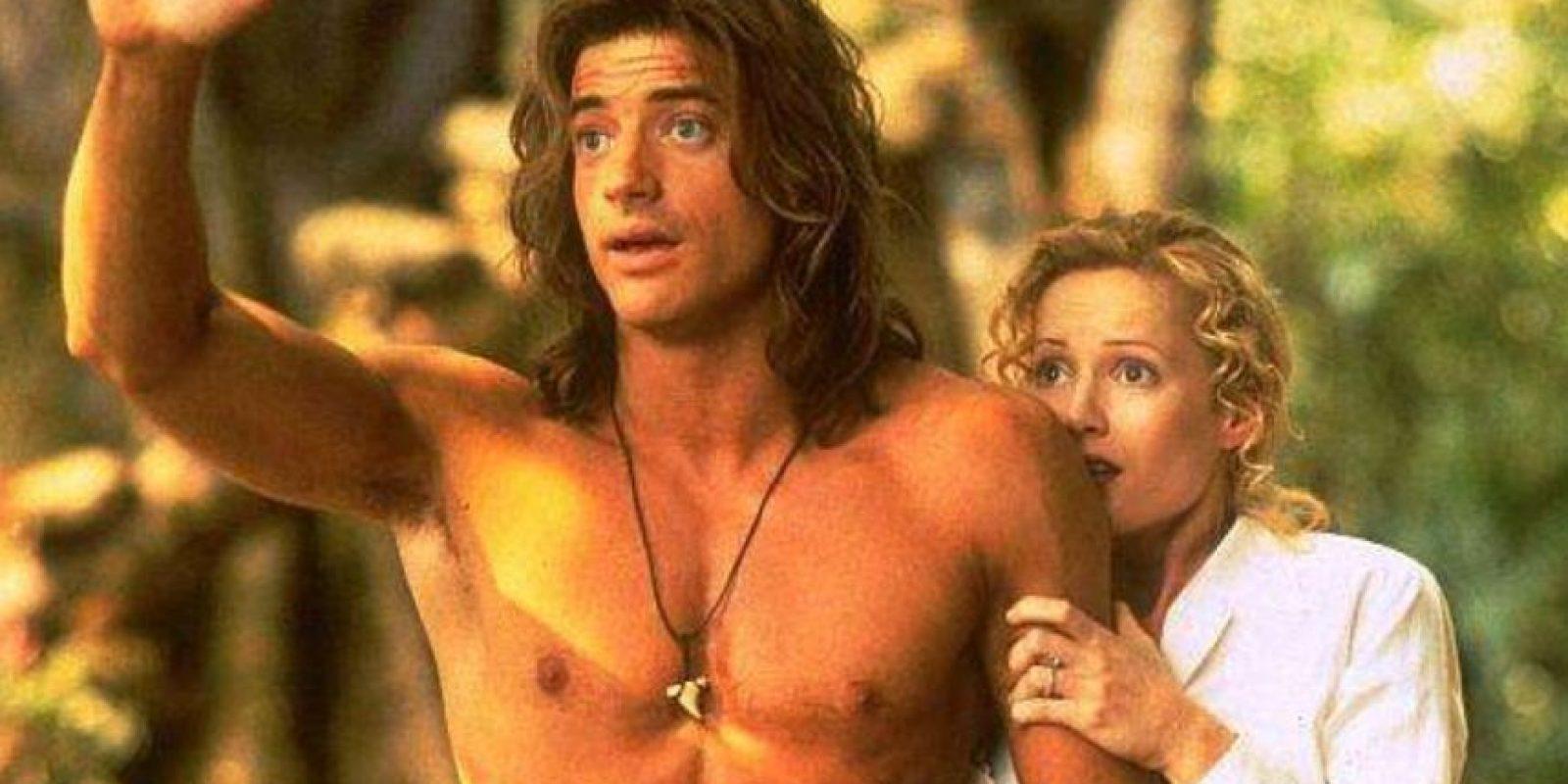 """Brendan Fraser lo tuvo todo para ser símbolo sexual en los años 90. Véanlo en """"George de la Selva"""", en 1997. Foto:Disney"""