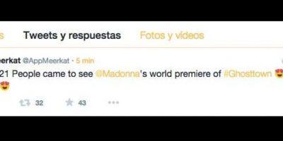 Este tuit fue eliminado de la cuenta de la aplicación. Mostraban los usuarios que esperaban el video. Foto:Twitter Meerkat
