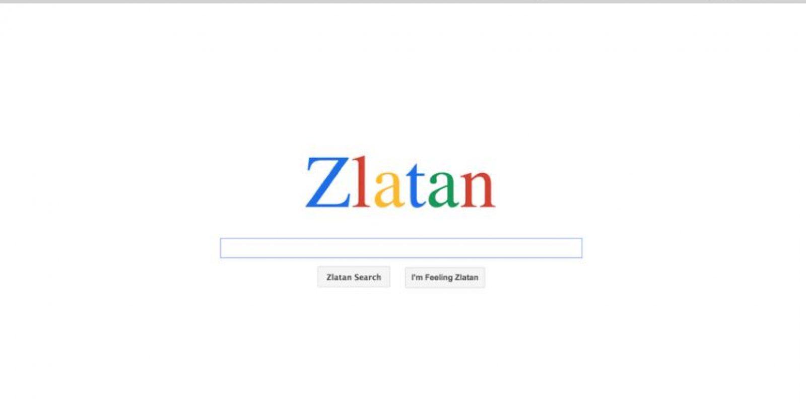 ¿Qué tal? Respaldado por Google, Zlatan Ibrahimovic ya tiene su propio buscador. Foto:Vía Zlaaatan.com