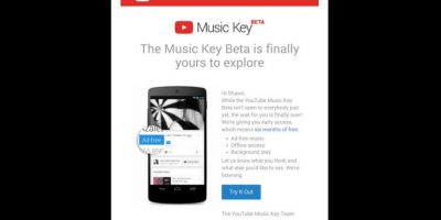 Así luce la aplicación YouTube Key Beta en la versión móvil. Foto:twitter.com/shawntowle/