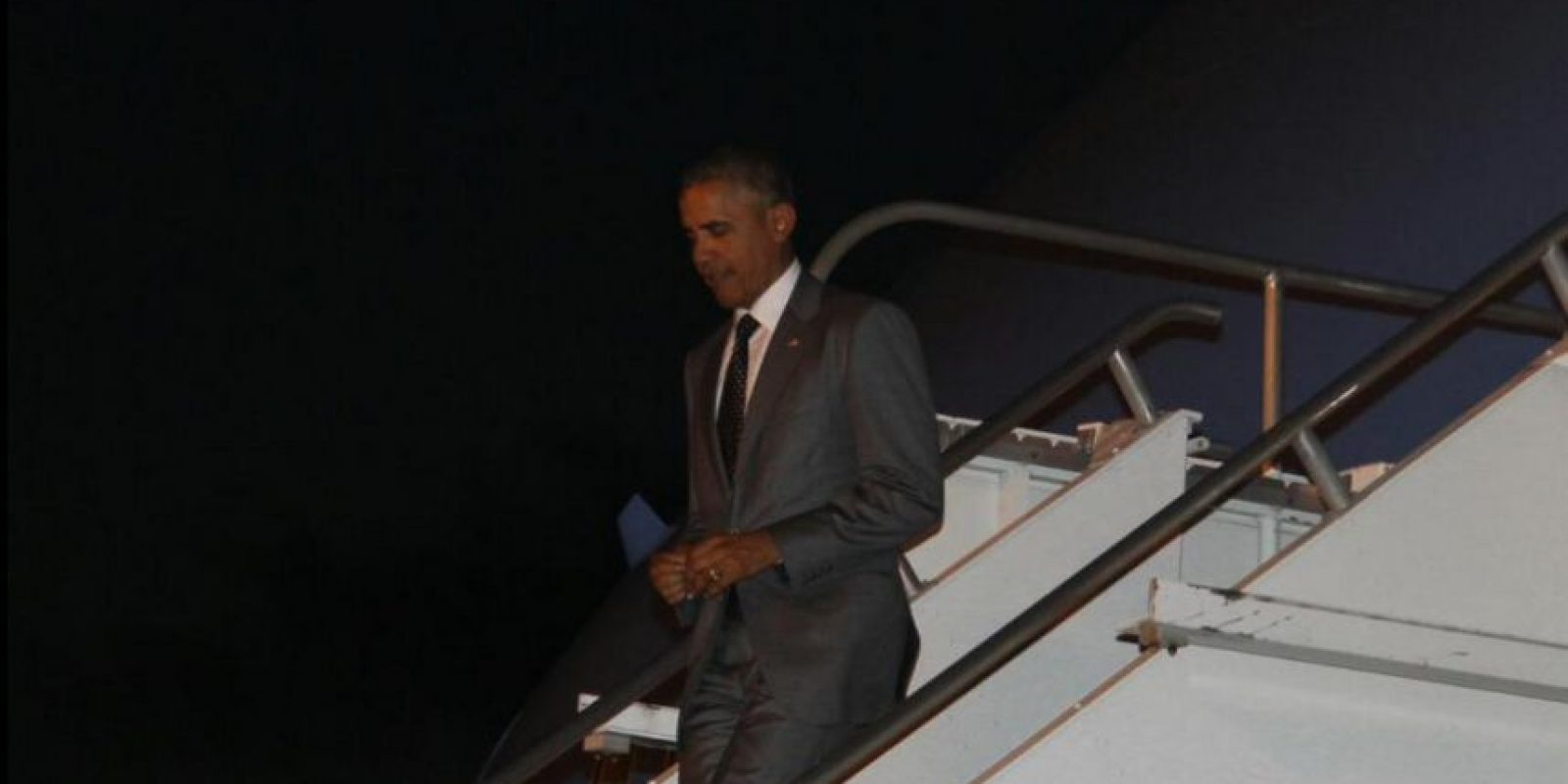 Así llegó el presidente de Estados Unidos, Barack Obama, a la VII Cumbre de las Américas Foto:vía twitter @CumbrePanama