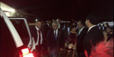 Llega al Aeropuerto de Panamá el Presidente de Guatemala, Otto Pérez Molina Foto:vía twitter @CumbrePanama