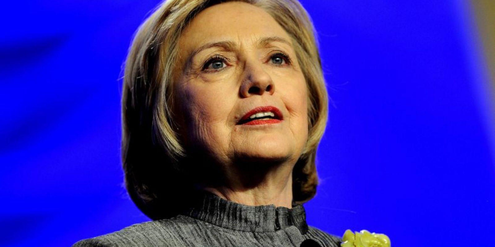De ganar sería la primer presidenta de Estados Unidos Foto:Getty Images