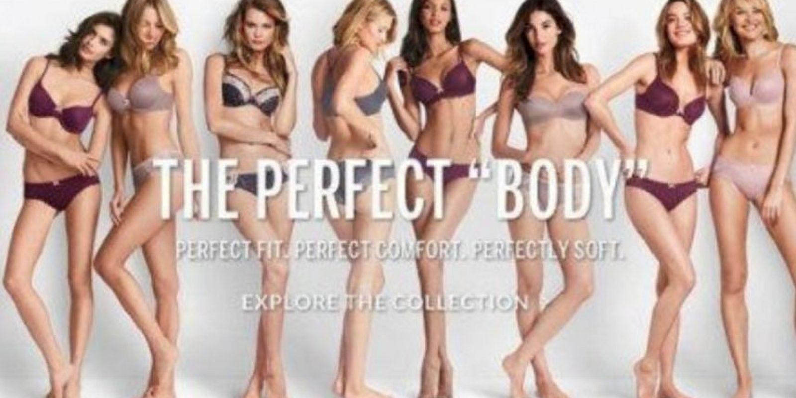 """Victoria´s Secret cometió un error de juicio con su campaña """"El cuerpo perfecto"""" Foto:Victoria´s Secret"""