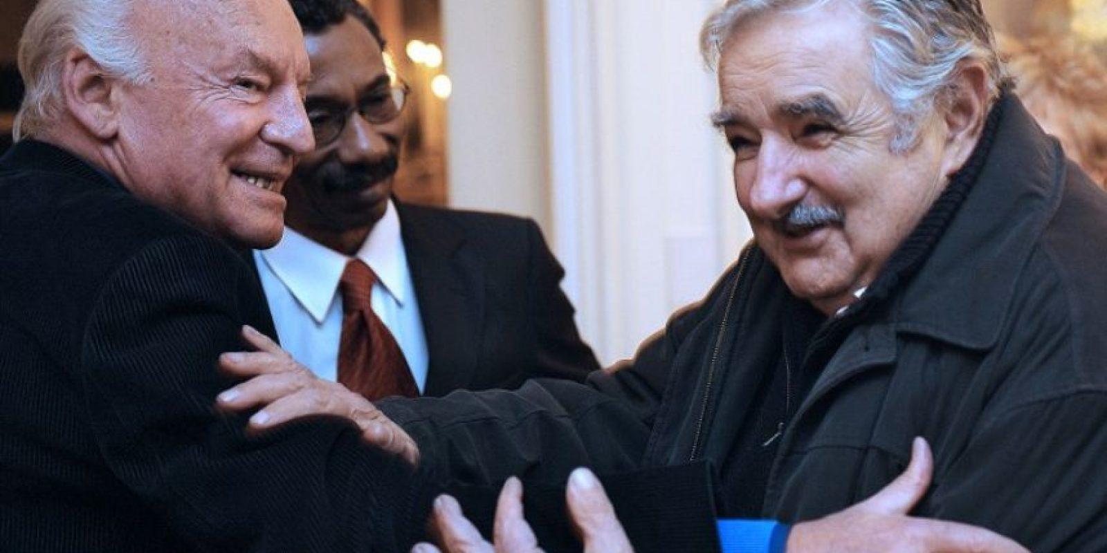 Con el expresidente de Uruguay, José Mujica Foto:AFP