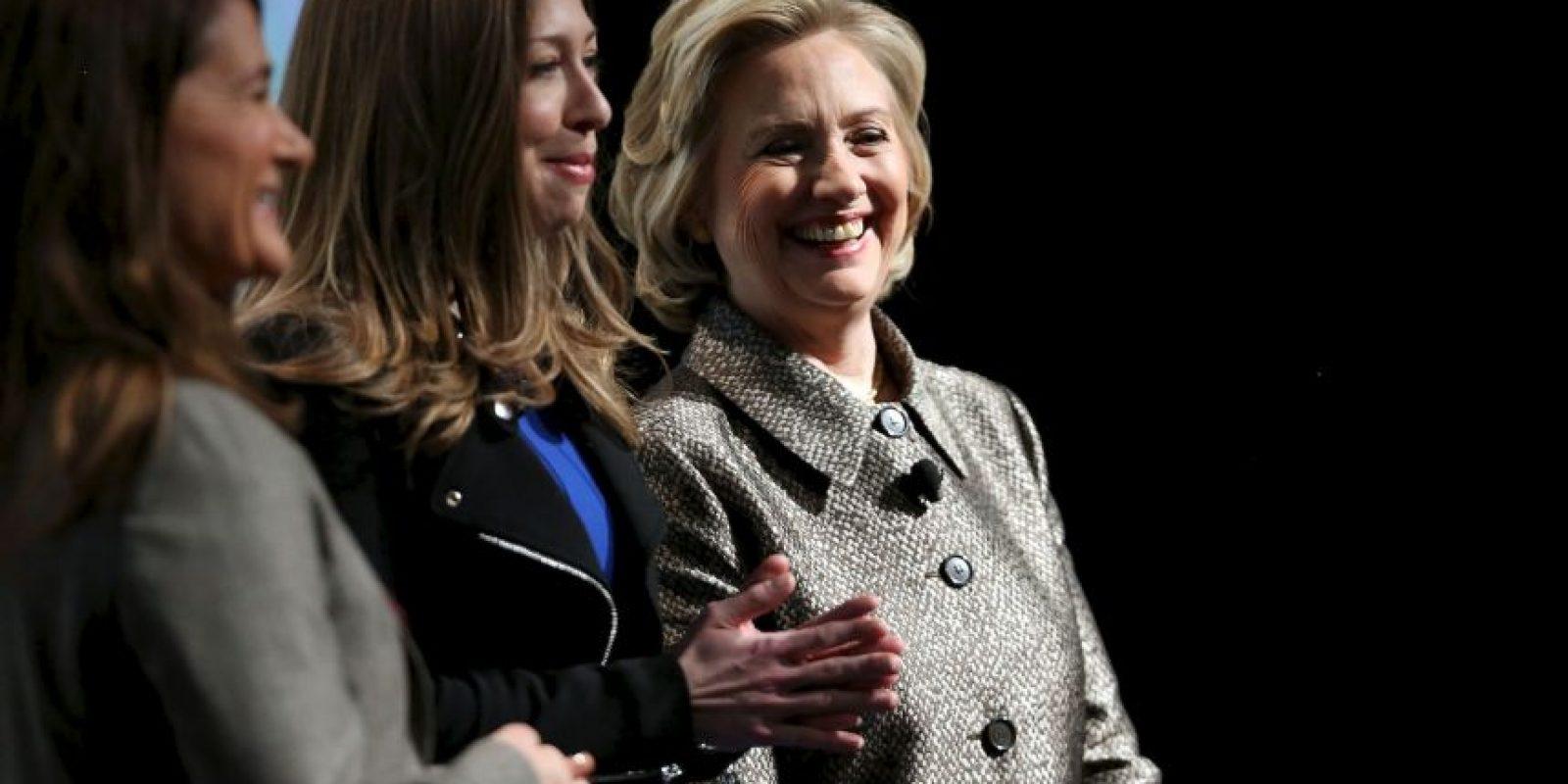 Hillary junto a su hija Chelsea. Foto:Getty Images