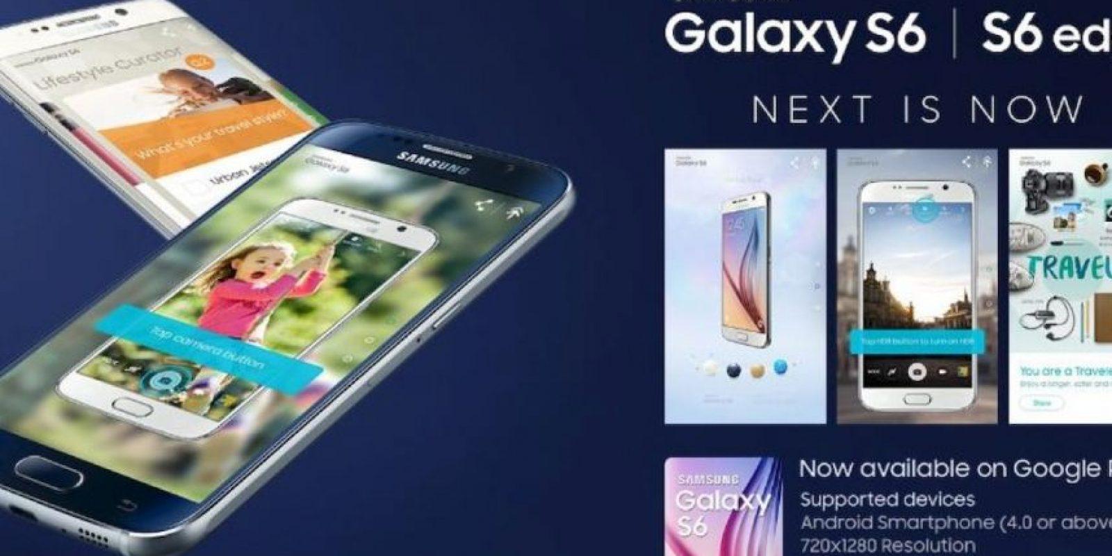 Su pantalla es Super AMOLED de 5.1 pulgadas con protección Corning Gorilla Glass 4. Foto:twitter.com/SamsungMobile
