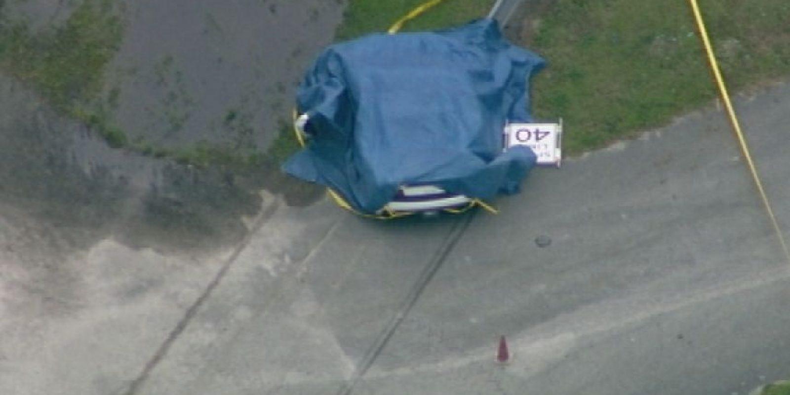Imagen aérea muestra la escena después del accidente Foto:AP