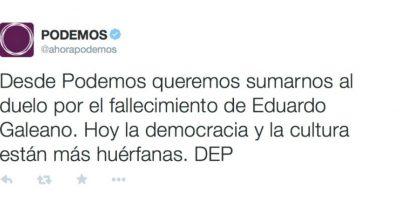 Partido político Podemos, en España Foto:Twiiter.com/