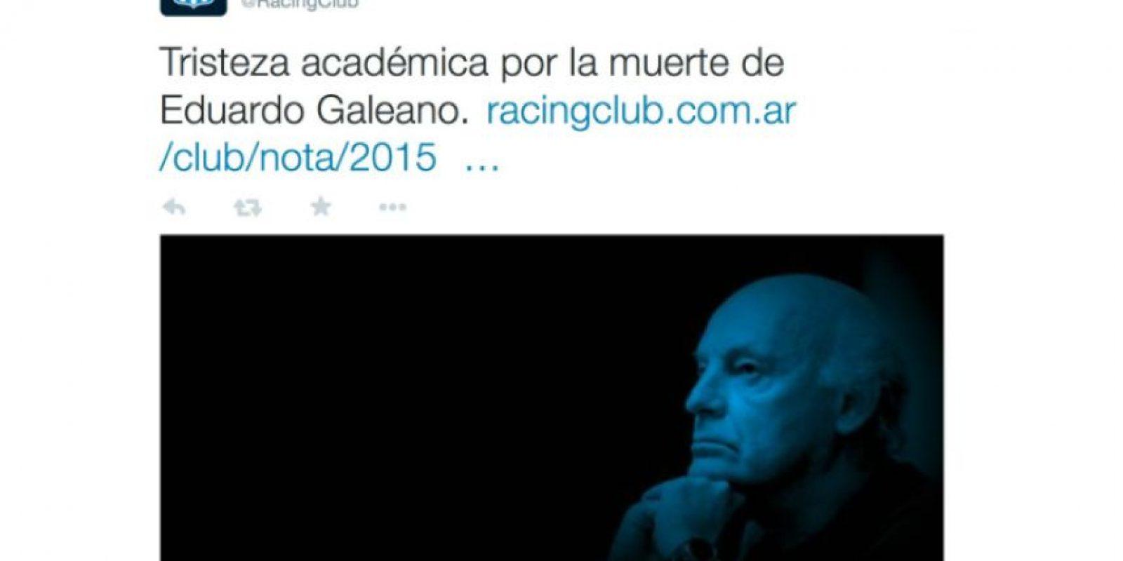 Racing Club, equipo de fútbol de Argentina Foto:Twiiter.com/