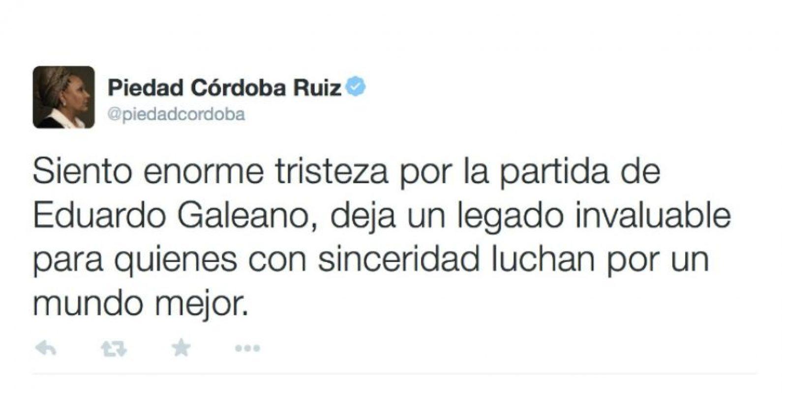 Piedad Córdoba Ruiz, exsenadora colombiana Foto:Twiiter.com/piedadcordoba
