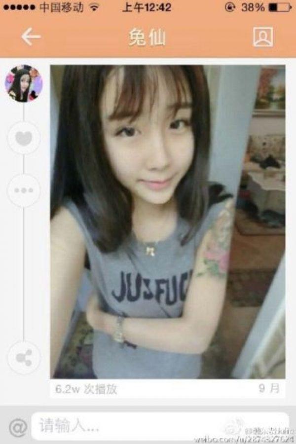 Ella es Lee Hee Danae antes de las múltiples operaciones a las que fue sometida. Foto:Vía weibo