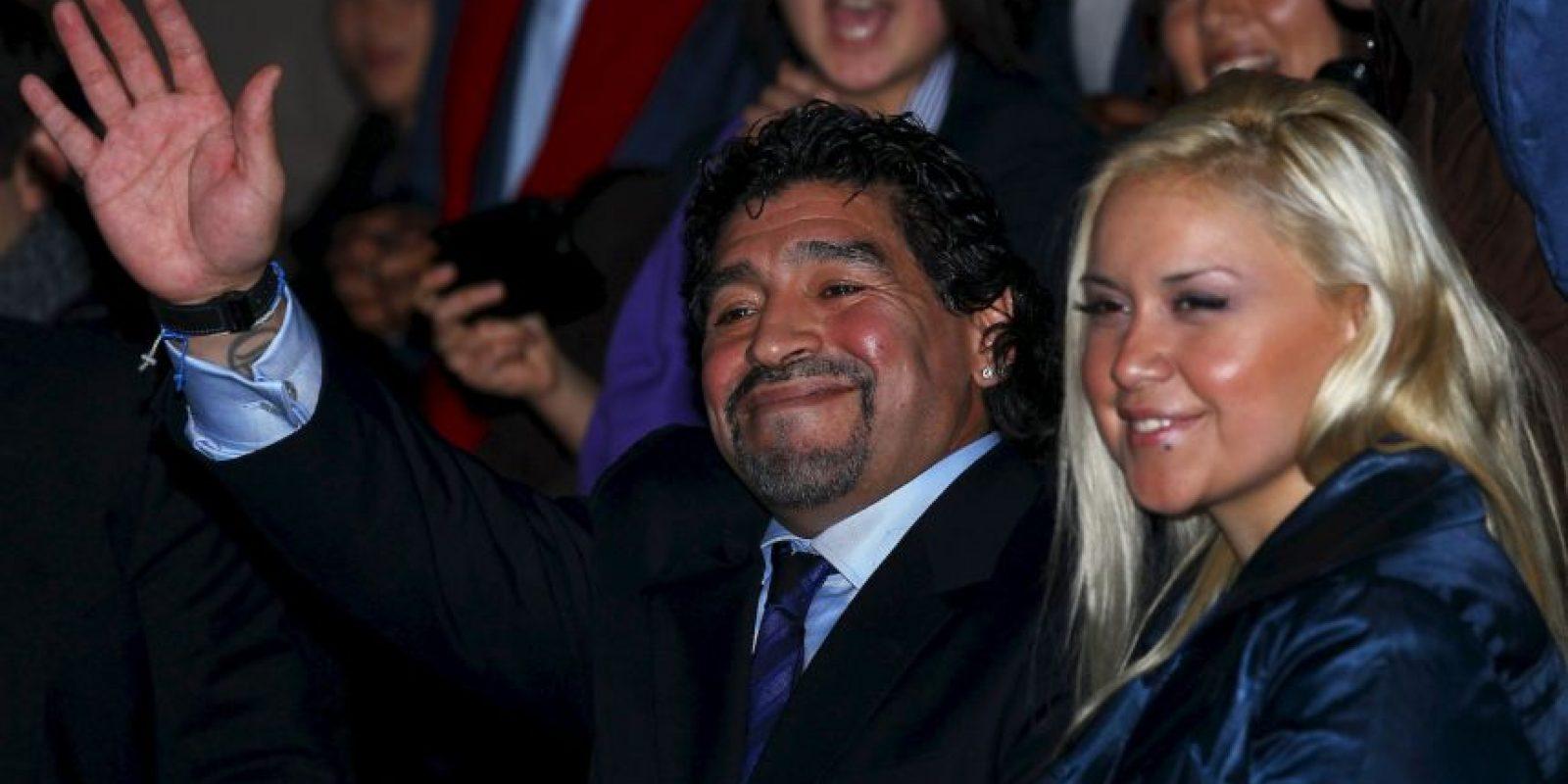 Diego Armando Maradona y Verónica Ojeda se conocieron en una fiesta de 2005. Foto:Getty Images