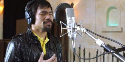 """""""Pacman"""" le dedicó esta melodía al pueblo de su país natal, Filipinas. Foto:Vía facebook.com/MannyPacquiao"""