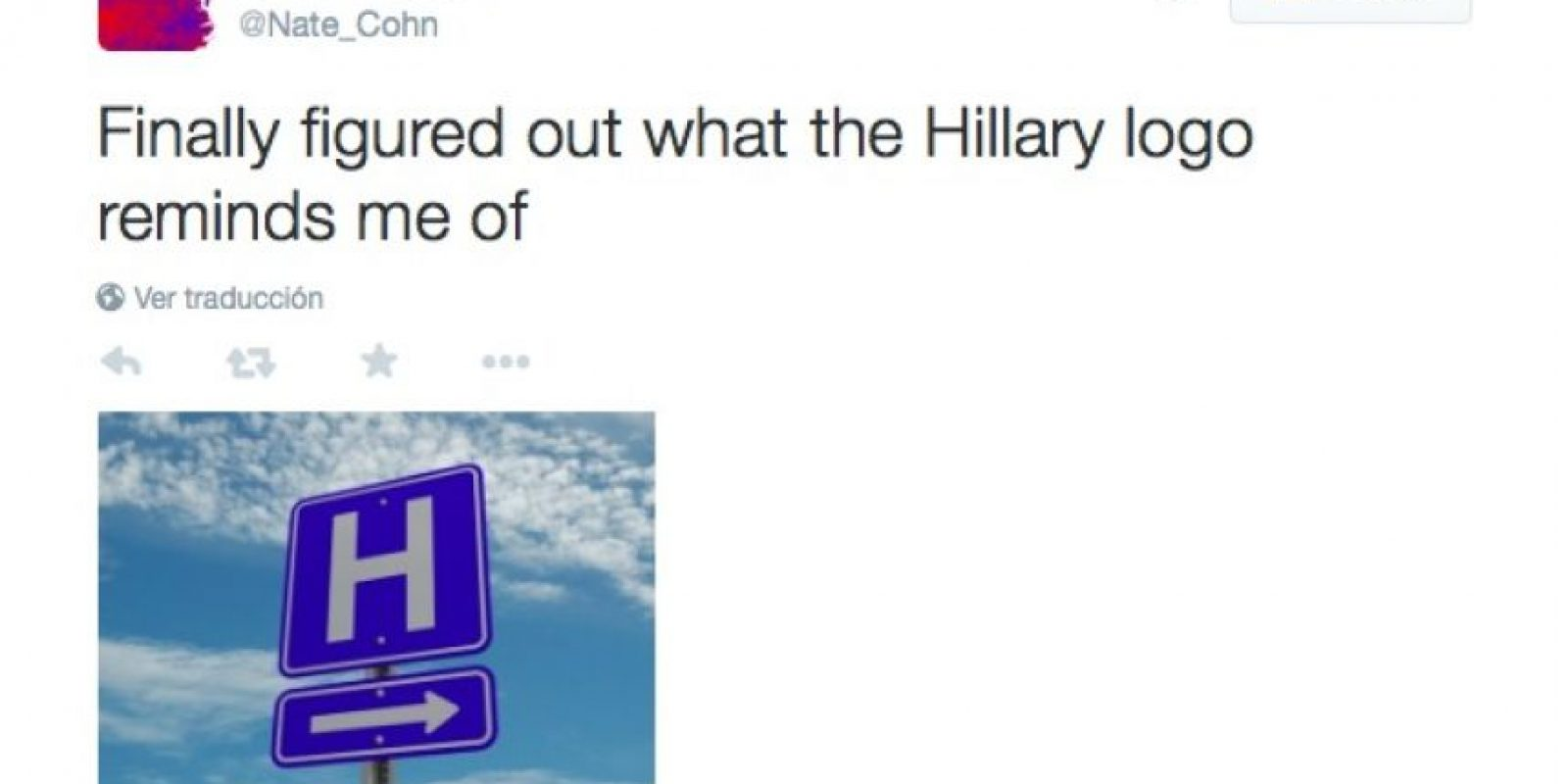 """Por fin descubrí a qué me recuerda el logotipo de Hillary Foto:Twitter.com/Nate_cohn"