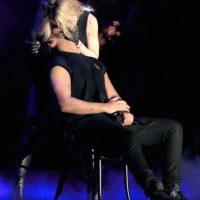"""""""No malinterpreten mi sorpresa! Me besé con la reina y agradeceré eso 100% para siempre. Gracias Madonna"""", escribió en una reciente publicación. Foto:Getty Images"""
