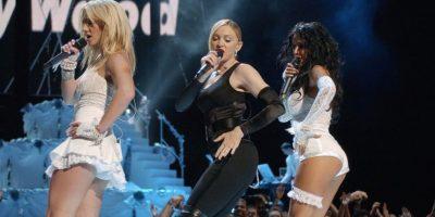 Sucedió en 2003, durante la premiación de los MTV Video Music Awards. Foto:Getty Images