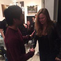 """La luchadora visitó la sede del entrenamiento de """"Pacman"""" en Los Ángeles. Foto:Vía Twitter.com/RondaRousey"""